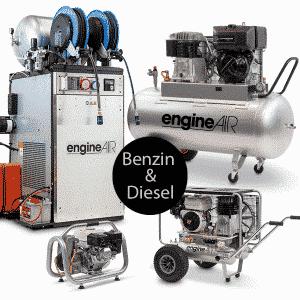 Stempelkompressor Benzin