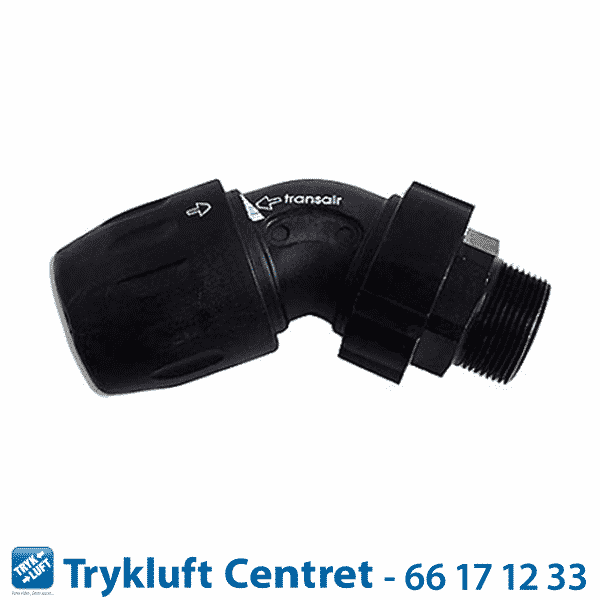 "Adapter stik (Han) 45° Vinkel D 63 - 2½"""