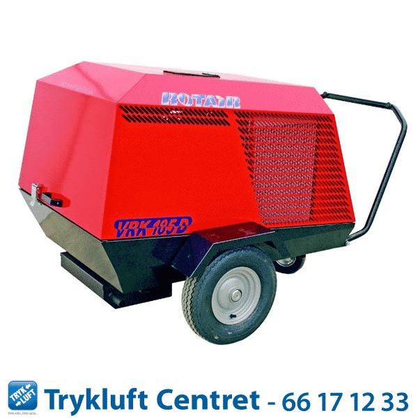 ROTAIR VRK 185 Diesel 7 bar med sandblæsningskit